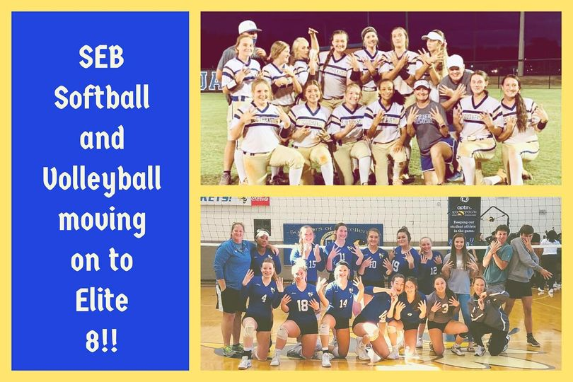 Softball and volleyball teams moving to the Elite 8!