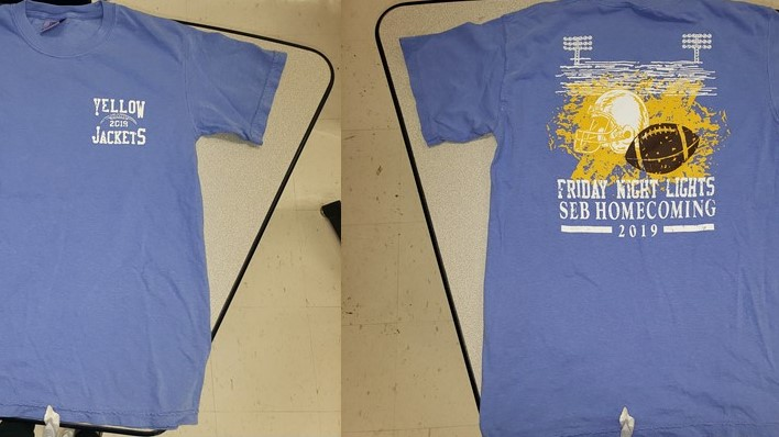 Homecoming t-shirt, front and back